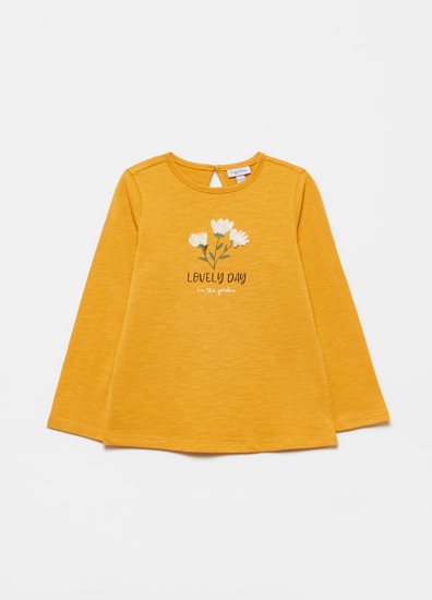 Picture of T-SHIRT PRIN GOLDEN ROD